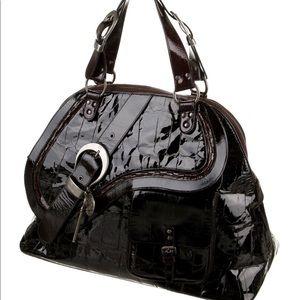 DIOR XL Embossed Gaucho Tote! Very big bag!